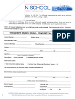 2015 Transcript Release Form