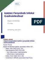 Bakteri Penyebab Infeksi Gastrointestinal