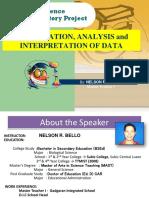 PRESENTATION SIP - Presentation, Analysis and Interpretation of Data