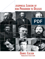 A Little Philosophical Lexicon of Anarchism from Proudhon to Deleuze