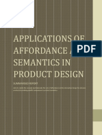 Applications of Affordance and Semantics in Product Design