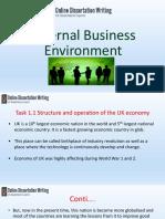 Presentation on External Business Environment in an Organization