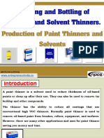 Blending and Bottling of Thinners and Solvent Thinners