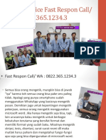 MS Word 2013, Fast Respon Call/ WA