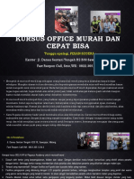 Kursus Ms Office Fast Respon Call/ WA