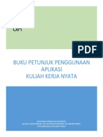 Buku Petunjuk Penggunaan Aplikasi Kkn