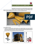 Use of Tremie to Concrete a Pile Under Fluid