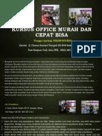 Microsoft Word Program, Jl. Danau Sentani Tengah H2B 39, Sawojajar, Malang.  Fast Respon Call/ WA