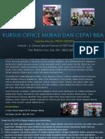 Ms Word 2007, Jl. Danau Sentani Tengah H2B 39, Sawojajar, Malang.  Fast Respon Call/ WA