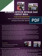 Ms Word 2003, Jl. Danau Sentani Tengah H2B 39, Sawojajar, Malang.  Fast Respon Call/ WA