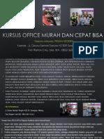 Microsoft Word 2007, Jl. Danau Sentani Tengah H2B 39, Sawojajar, Malang.  Fast Respon Call/ WA