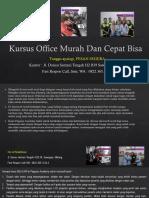 Microsoft Word 2000, Jl. Danau Sentani Tengah H2B 39, Sawojajar, Malang.  Fast Respon Call/ WA