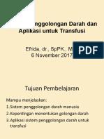 2.2.6.1 Sistem Penggolongan Darah dan Aplikasi untuk Transfusi Darah.ppt