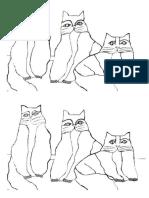 Gatos Cores Quentes.