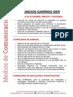 Las 100 propuestas del presidente Ángel Garrido