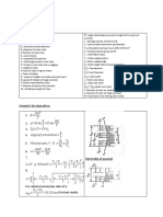 machine Design formula list