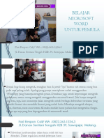 Buku Kursus Microsoft Word 2007, Fast Respon  WA