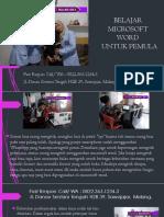 Buku Kursus Microsoft Word 2007, Fast Respon Call/ WA