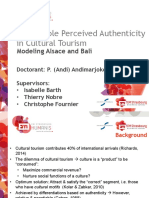 Andimarjoko - 7 Jun 2018 - Authenticity in Cultural Tourism - Alsace Bali