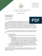 DoIT Letter to Secretary