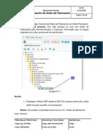 Manual de Usuario SAP PP Creacion de Orden de Fabricacion