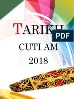 Tarikh Cuti Am 2018