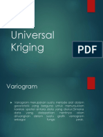 Universal Kriging