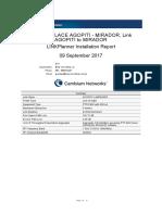 Link AGOPITI to MIRADOR Installation Report
