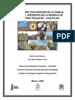 Guía de Campo Con Especies de La Familia Cactaceae Presentes en La Rbt-c