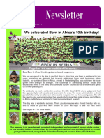 Born in Africa Newsletter May 2013