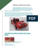 Cara Membuat Miniatur Mobil dari Kaleng Bekas.docx