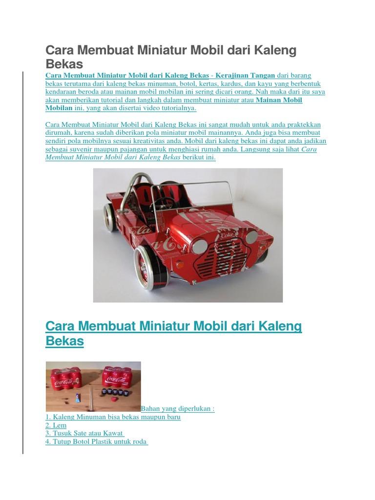 Cara Membuat Miniatur Mobil Dari Kaleng Bekas Docx