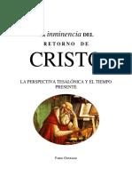 Ensayo 1 - La Inminencia Del Retorno de Cristo