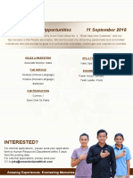 Career Poster - 11 September 2018