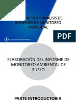 Elaboración Del Informe de Monitoreo Ambiental de Suelo