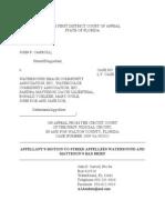 Appellants Motion to Strike Bad Brief