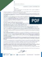 La lettre de Bruno Gilles aux Marseillais