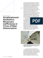 Shaviro, Steven - Accelerationist Aesthetics- Necessary Inefficiency in Times of Real