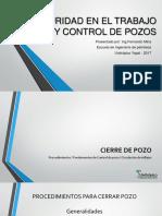 Seguridad en El Trabajo y Control de Pozos - Clase 5-6