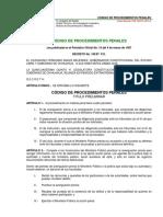 Código de Procedimientos Penales. 1987