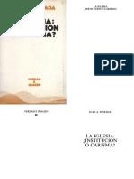 ESTRADA, Juan a. (1984). La Iglesia, Institución o Carisma. Verdad e Imagen 88. Salamanca, Ediciones Sígueme