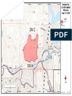 Seaman Fire perimeter map, Thursday, Sept. 13