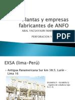 Plantas y Empresas Fabricantes de ANFO