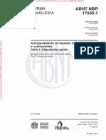 NBR17505-1 - Armazenamento de liquidos inflamaveis