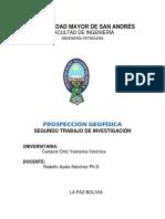PROYECTOS DE EXPLORACION 2018
