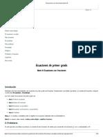 Ecuaciones Con Fracciones (Nivel 4)