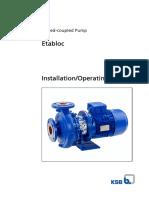 Closed-coupled Pump Etabloc Installation-Operating Manual
