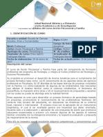 Syllabus Del Curso Acción Psicosocial y Familia