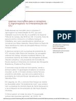 STJ - Notícias_ Abertas Inscrições Para o Simpósio O Agronegócio Na Interpretação Do STJ
