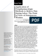 Application of Nonpharmacologic Method to Relieve Pain